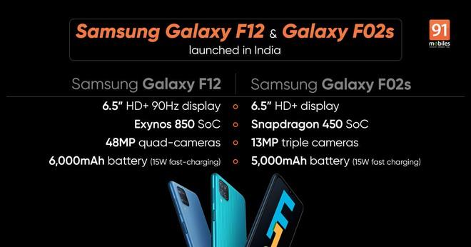Samsung ra mắt Galaxy F12 và F02s: Pin 6000mAh, màn hình 90Hz, giá từ 3.5 triệu đồng - Ảnh 3.