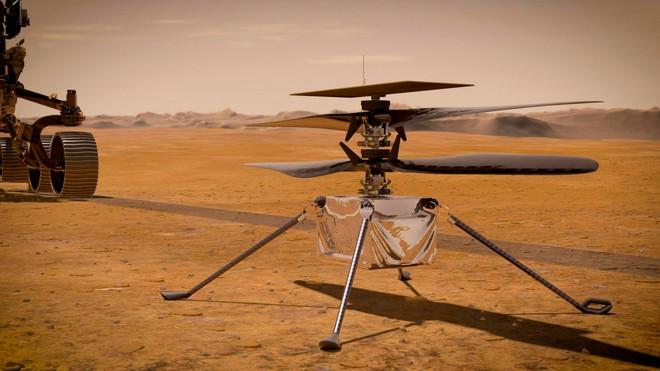 Trực thăng sao Hỏa của NASA hạ cánh thành công, sắp thực hiện chuyến bay lịch sử đầu tiên trên Hành tinh Đỏ - Ảnh 2.