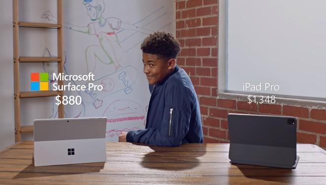 """Quảng cáo Surface Pro 7 mới nhất của Microsoft tiếp tục lôi iPad Pro ra làm """"trò đùa"""" - Ảnh 6."""