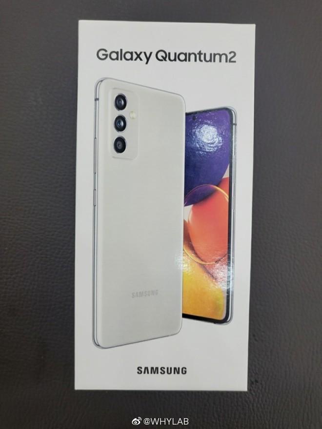 Galaxy Quantum2 lộ diện: Thiết kế lai Galaxy A72 và Galaxy S21, Snapdragon 860, camera 64MP, ra mắt 23/4 - Ảnh 1.