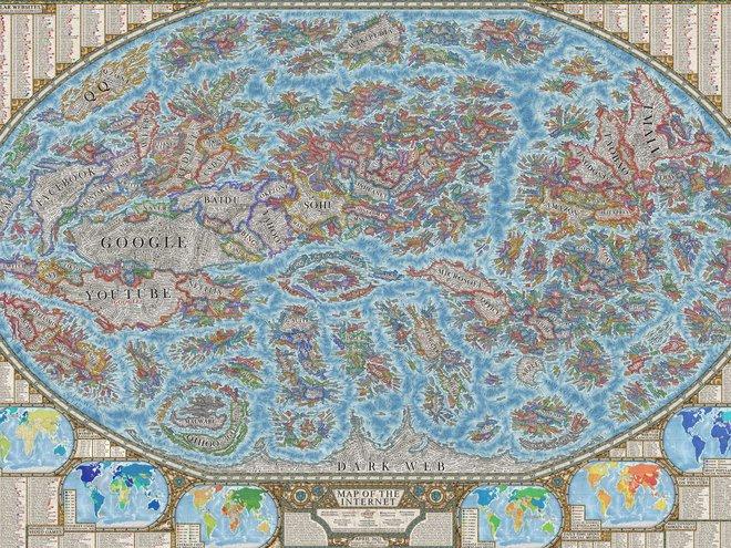 Nhà thiết kế tạo bản đồ Internet với 3.000 trang web là các quốc gia - Ảnh 1.