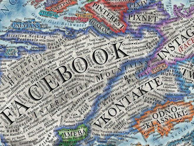 Nhà thiết kế tạo bản đồ Internet với 3.000 trang web là các quốc gia - Ảnh 3.