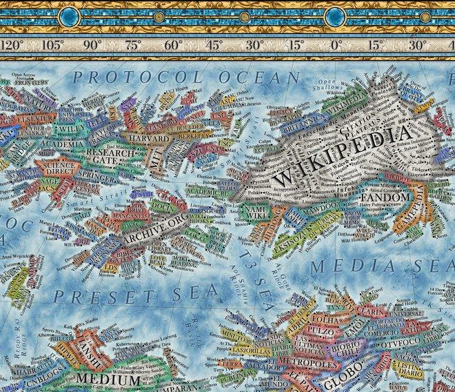Nhà thiết kế tạo bản đồ Internet với 3.000 trang web là các quốc gia - Ảnh 4.