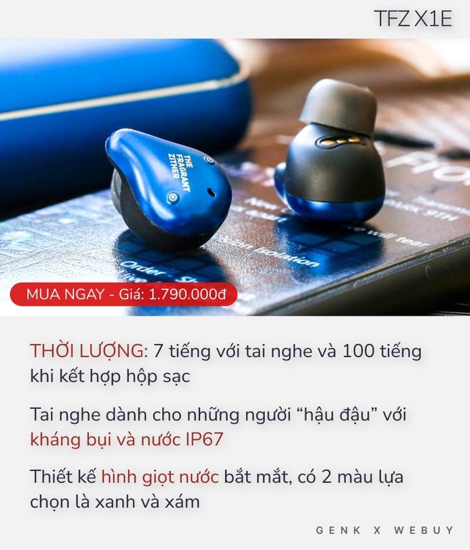 Từ 1 triệu đã có 5 option tai nghe True Wireless pin khủng, sạc 1 lần dùng cả tháng - Ảnh 4.