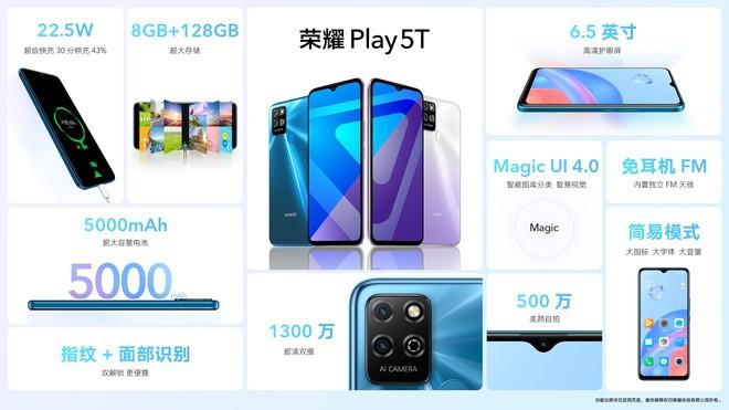 Honor Play 5 và Play 5T ra mắt: Màn hình OLED, chip Dimensity 800U, sạc siêu nahnh 66W, giá 7.5 triệu đồng - Ảnh 7.