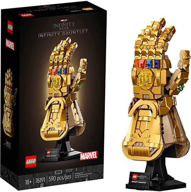 LEGO ra mắt mô hình Găng vô cực gồm 590 miếng ghép, có thể tạo hình búng tay tanh tách như Thanos, giá hơn 1,6 triệu đồng - Ảnh 1.