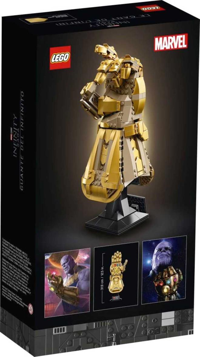 LEGO ra mắt mô hình Găng vô cực gồm 590 miếng ghép, có thể tạo hình búng tay tanh tách như Thanos, giá hơn 1,6 triệu đồng - Ảnh 2.