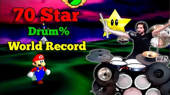 Game thủ chơi Mario bằng trống thay cho tay cầm, chỉ gần 1,5 tiếng đã phá đảo - Ảnh 2.