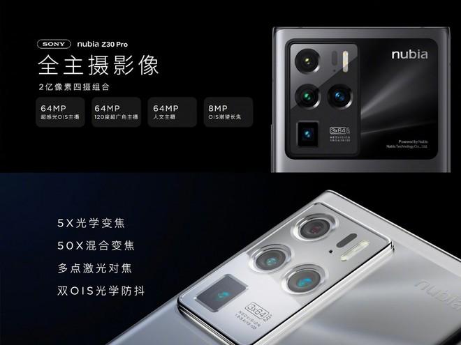 Nubia Z30 Pro ra mắt: Màn hình 144Hz, ba camera 64MP, Snapdragon 888, sạc siêu nhanh 120W, giá từ 18 triệu đồng - Ảnh 4.