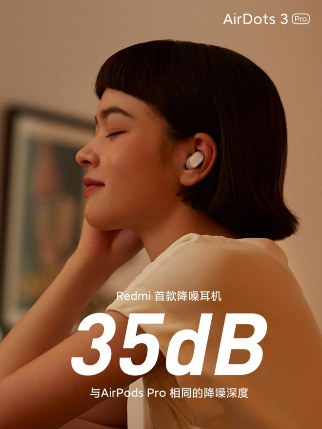 Redmi AirDots 3 Pro ra mắt: Thiết kế giống Pixel Buds, tích hợp chống ồn ANC, pin 28 giờ, giá chỉ hơn 1 triệu đồng - Ảnh 2.