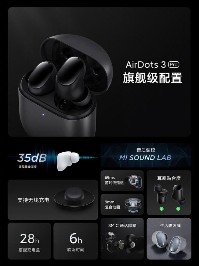Redmi AirDots 3 Pro ra mắt: Thiết kế giống Pixel Buds, tích hợp chống ồn ANC, pin 28 giờ, giá chỉ hơn 1 triệu đồng - Ảnh 5.