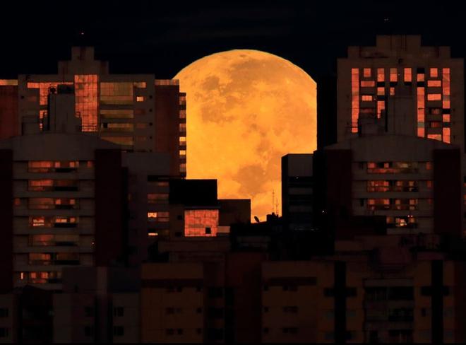 Những bức ảnh ngoạn mục nhất về sự kiện siêu trăng máu vừa diễn ra - Ảnh 9.
