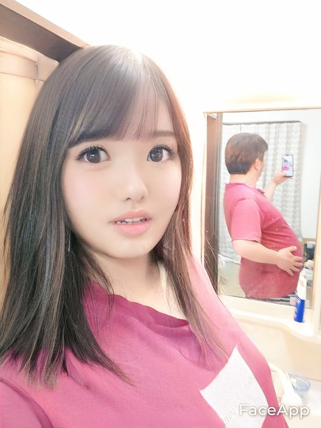 Thêm 1 ông chú Nhật Bản biến hóa thành hotgirl nhờ sử dụng ma thuật FaceApp - Ảnh 3.