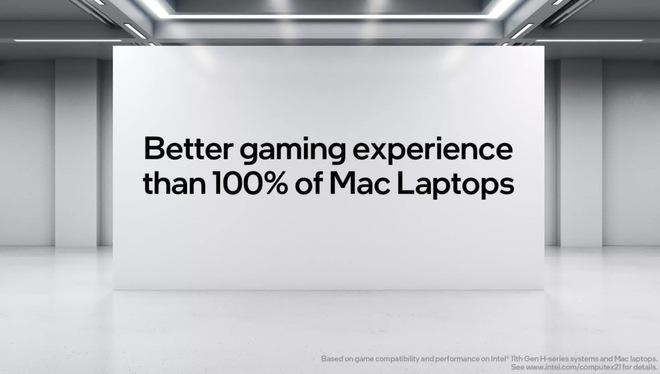 Intel tuyên bố chip của họ cùng với Windows cho 100% MacBook trên thị trường hít bụi khi nói về khả năng chơi game - Ảnh 1.