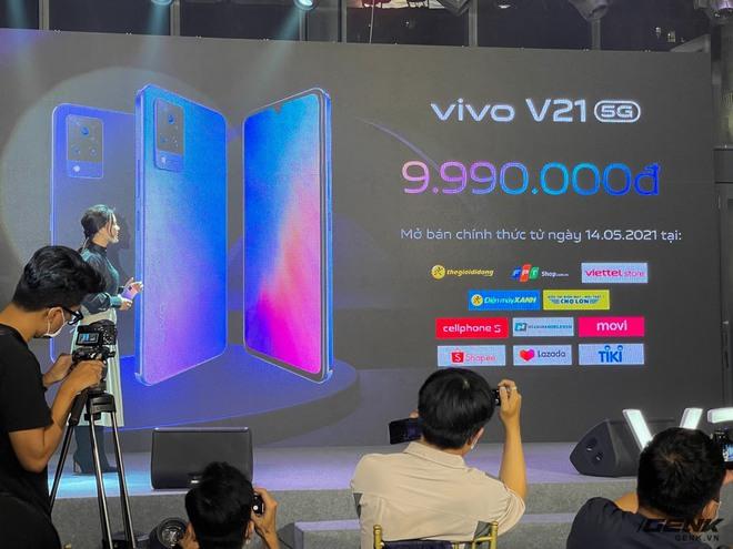 Cận cảnh Vivo V21 5G vừa ra mắt tại Việt Nam: Camera selfie 44MP chống rung OIS, có hai đèn flash trước để selfie đẹp hơn, mỏng chỉ 7,29mm, giá 9,99 triệu đồng - Ảnh 10.