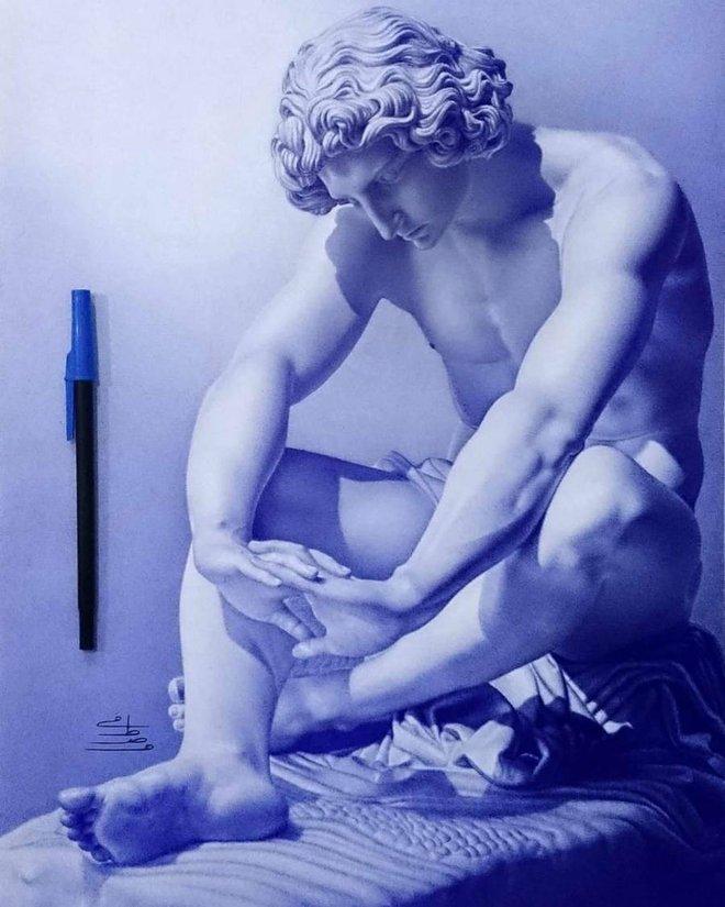 Ngất ngây với những bức tranh vẽ bằng bút bi mà cứ ngỡ là ảnh thật - Ảnh 8.