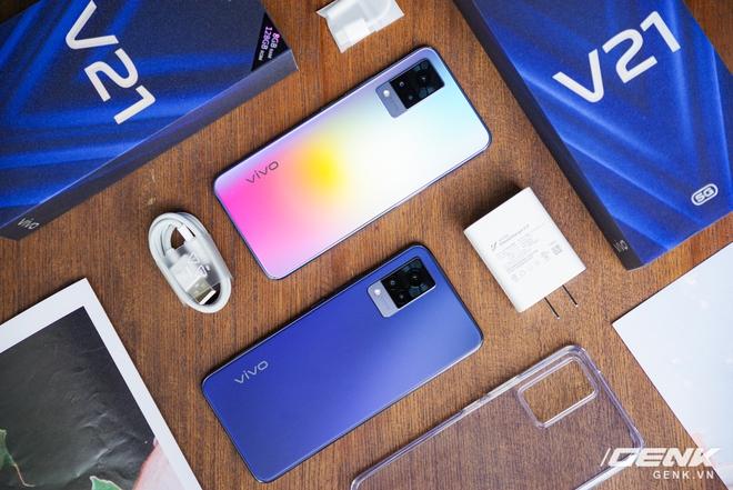 Trên tay Vivo V21 5G: thiết kế mỏng nhẹ đẹp mắt, đặc biệt có Camera selfie 44MP chống rung OIS - Ảnh 1.