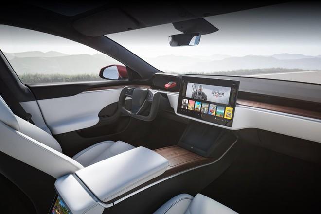 Tesla ra mắt mẫu xe Model S Plaid hiệu năng cao, tốc độ siêu nhanh, mạnh ngang PS5, giá bán từ 131.100 USD - Ảnh 6.