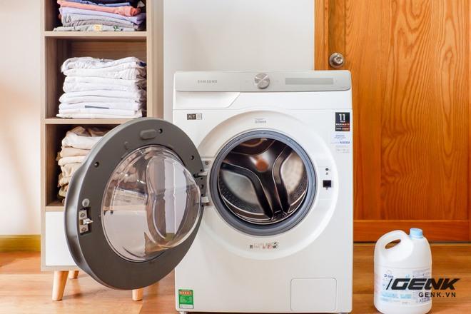 Trải nghiệm thực tế máy giặt Samsung AI: Kết nối trực tiếp với điện thoại, đo được khối lượng độ bẩn quần áo, giá bán 14 triệu đồng - Ảnh 5.