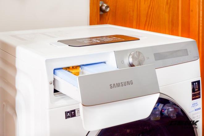 Trải nghiệm thực tế máy giặt Samsung AI: Kết nối trực tiếp với điện thoại, đo được khối lượng độ bẩn quần áo, giá bán 14 triệu đồng - Ảnh 7.