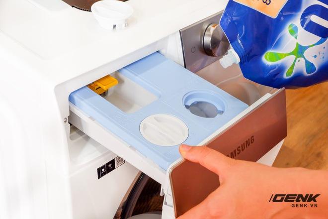 Trải nghiệm thực tế máy giặt Samsung AI: Kết nối trực tiếp với điện thoại, đo được khối lượng độ bẩn quần áo, giá bán 14 triệu đồng - Ảnh 10.