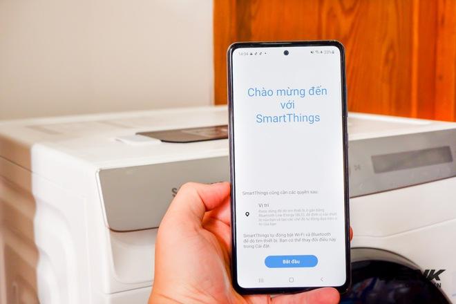 Trải nghiệm thực tế máy giặt Samsung AI: Kết nối trực tiếp với điện thoại, đo được khối lượng độ bẩn quần áo, giá bán 14 triệu đồng - Ảnh 12.