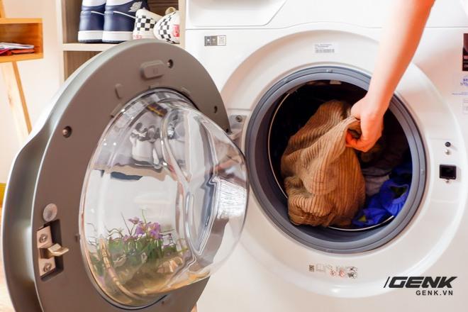 Trải nghiệm thực tế máy giặt Samsung AI: Kết nối trực tiếp với điện thoại, đo được khối lượng độ bẩn quần áo, giá bán 14 triệu đồng - Ảnh 15.
