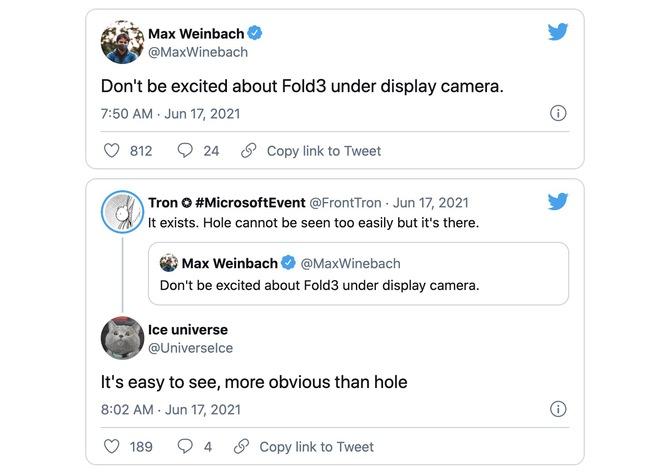 Camera dưới màn hình trên Galaxy Z Fold3 dễ bị nhìn thấy, gây chú ý hơn cả màn hình đục lỗ - Ảnh 1.