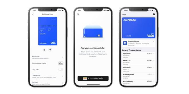 Apple Pay gián tiếp cho thanh toán bằng tiền mã hóa, thông qua Coinbase Card - Ảnh 1.