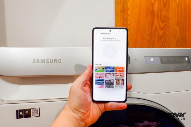 Trải nghiệm thực tế máy giặt Samsung AI: Kết nối trực tiếp với điện thoại, đo được khối lượng độ bẩn quần áo, giá bán 14 triệu đồng - Ảnh 13.