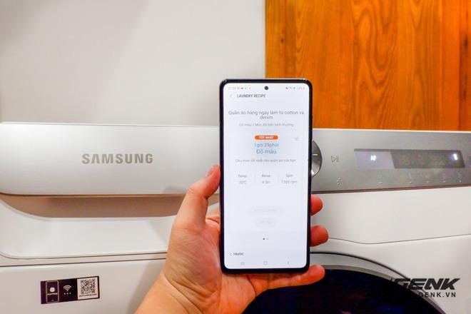 Trải nghiệm thực tế máy giặt Samsung AI: Kết nối trực tiếp với điện thoại, đo được khối lượng độ bẩn quần áo, giá bán 14 triệu đồng - Ảnh 14.