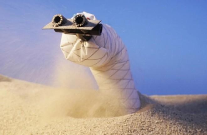 Các nhà khoa học chế tạo thành công robot rắn có thể đào hầm, chui qua đất cát để thám hiểm - Ảnh 1.