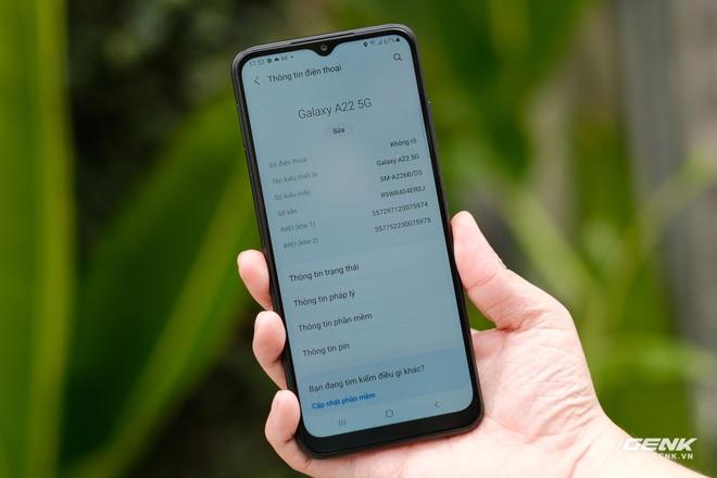 Trên tay Galaxy A22 5G: Có thêm 5G nhưng không xịn bằng bản 4G? - Ảnh 10.