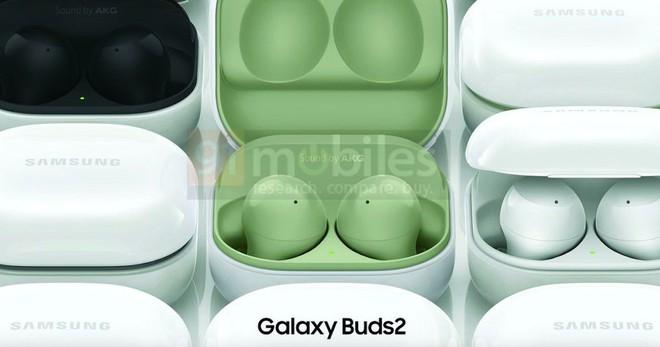 Galaxy Buds 2 lộ diện: Thiết kế giống Buds Pro, nhiều màu sắc, không có chống ồn, ra mắt cùng Galaxy Z Fold3 - Ảnh 1.
