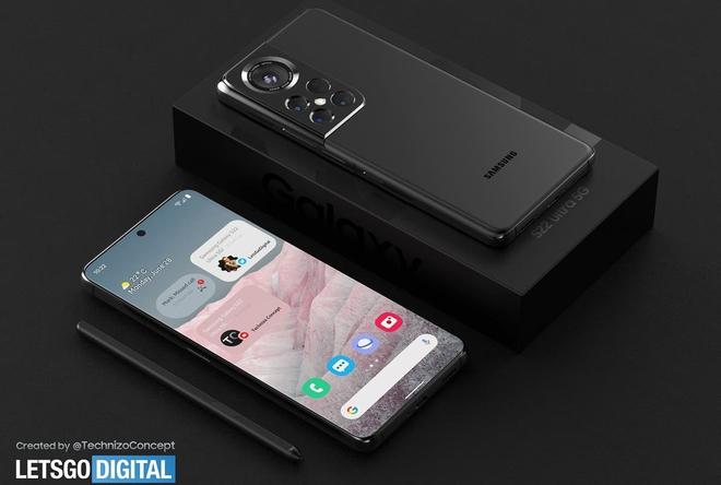Đây có thể là thiết kế của Samsung Galaxy S22 Ultra - Ảnh 1.