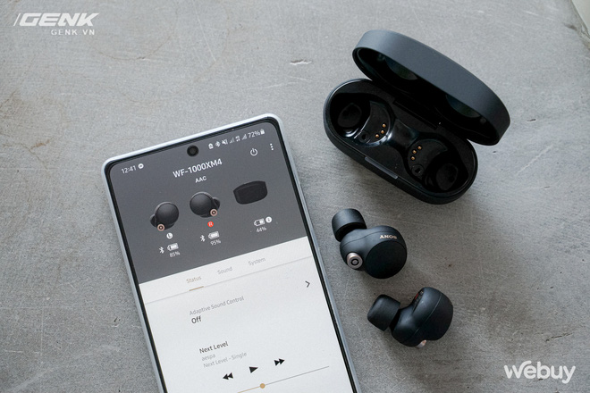 Trên tay Sony WF-1000XM4: Nhỏ gọn, pin trâu, chống ồn đỉnh chóp, giá 6.49 triệu - Ảnh 12.