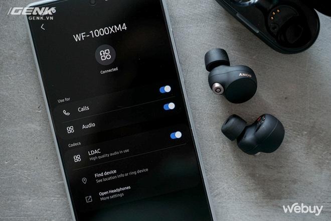 Trên tay Sony WF-1000XM4: Nhỏ gọn, pin trâu, chống ồn đỉnh chóp, giá 6.49 triệu - Ảnh 9.