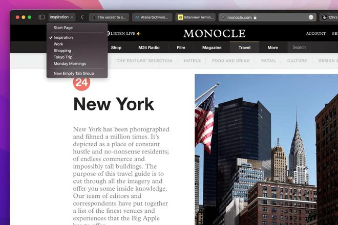 macOS Monterey ra mắt: Cải tiến Safari, điều khiển qua lại giữa Mac và iPad... - Ảnh 4.