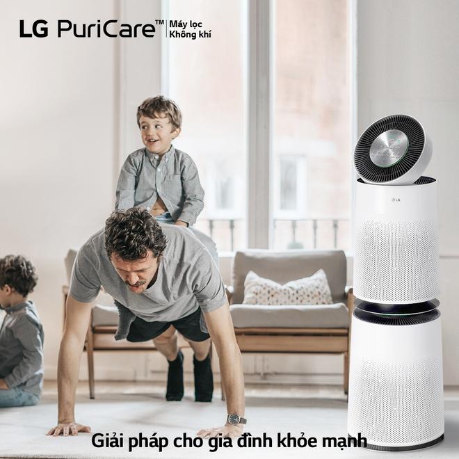 LG ra mắt máy lọc không khí PuriCare 360° với bộ lọc Safe Plus ưu việt - Ảnh 1.