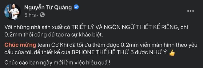 CEO BKAV Nguyễn Tử Quảng hé lộ về Bphone 5: Chỉ 0.2mm thôi cũng đủ tạo ra sự khác biệt - Ảnh 2.