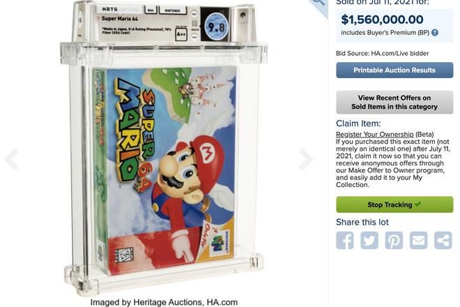 Băng điện tử Super Mario 64 nguyên seal được bán với giá kỷ lục 1,5 triệu USD - Ảnh 1.