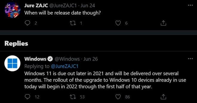 Dù phát hành chính thức vào cuối năm nhưng phải tới năm 2022, người dùng mới có thể nâng cấp miễn phí lên Windows 11 - Ảnh 2.