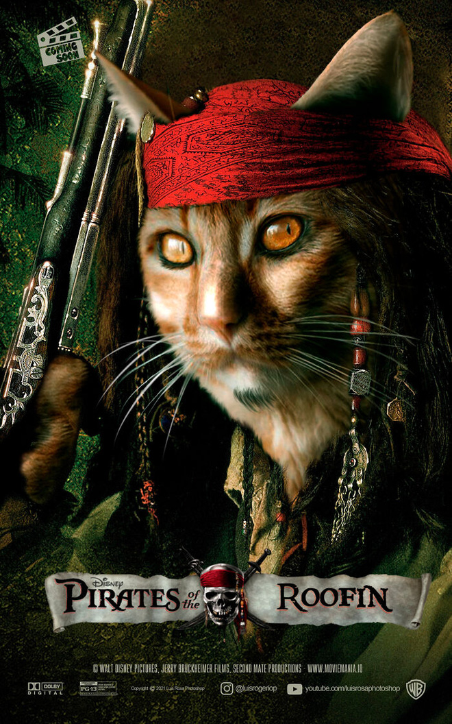[Chùm ảnh vui] Sẽ thế nào nếu các boss chó mèo thay con người thủ vai chính trong những bộ phim đình đám thế giới? - Ảnh 10.