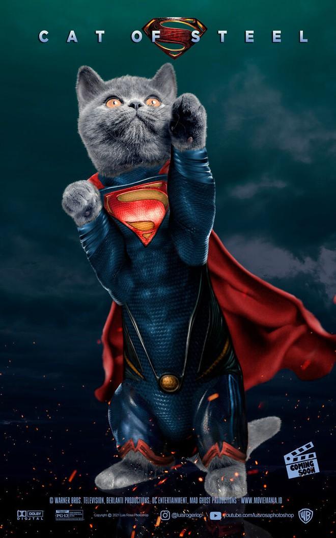 [Chùm ảnh vui] Sẽ thế nào nếu các boss chó mèo thay con người thủ vai chính trong những bộ phim đình đám thế giới? - Ảnh 12.