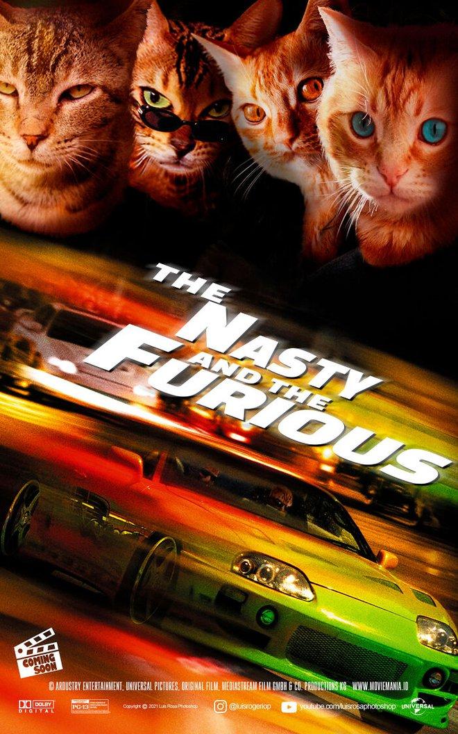 [Chùm ảnh vui] Sẽ thế nào nếu các boss chó mèo thay con người thủ vai chính trong những bộ phim đình đám thế giới? - Ảnh 16.