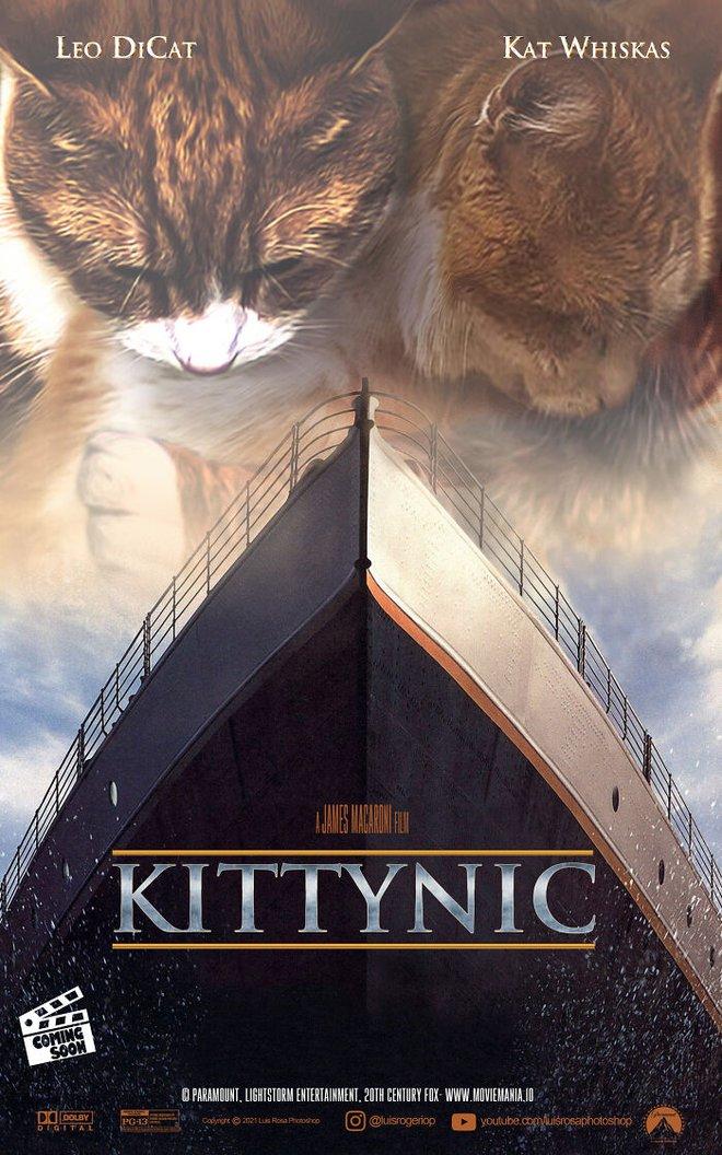 [Chùm ảnh vui] Sẽ thế nào nếu các boss chó mèo thay con người thủ vai chính trong những bộ phim đình đám thế giới? - Ảnh 4.