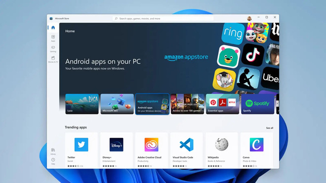 Nhờ Amazon, Windows 11 vẫn có thể chạy được định dạng ứng dụng mới của Android - Ảnh 1.