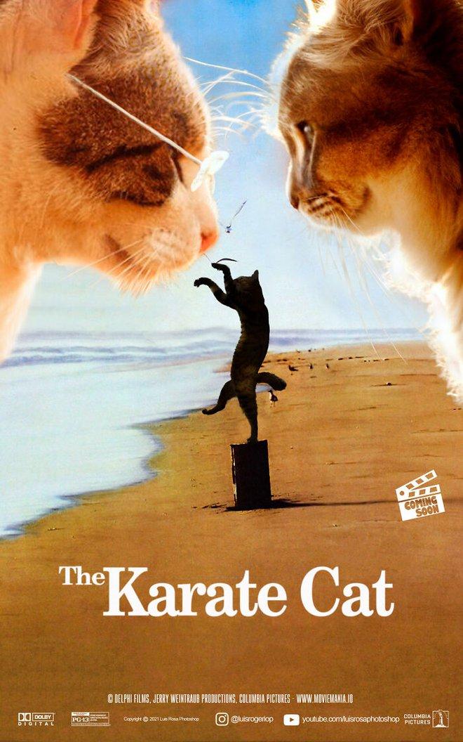 [Chùm ảnh vui] Sẽ thế nào nếu các boss chó mèo thay con người thủ vai chính trong những bộ phim đình đám thế giới? - Ảnh 6.