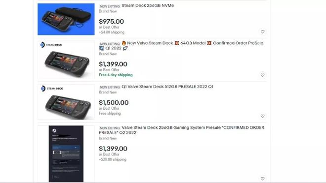 Steam Deck vừa mở pre-order, giới đầu cơ đã mở bán trên eBay với giá cao gấp đôi - Ảnh 1.