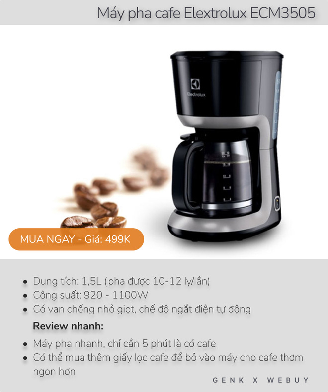 Review siêu tốc 5 máy pha cafe dưới 600K cho mùa giãn cách, loại rẻ nhất chỉ 160K - Ảnh 2.